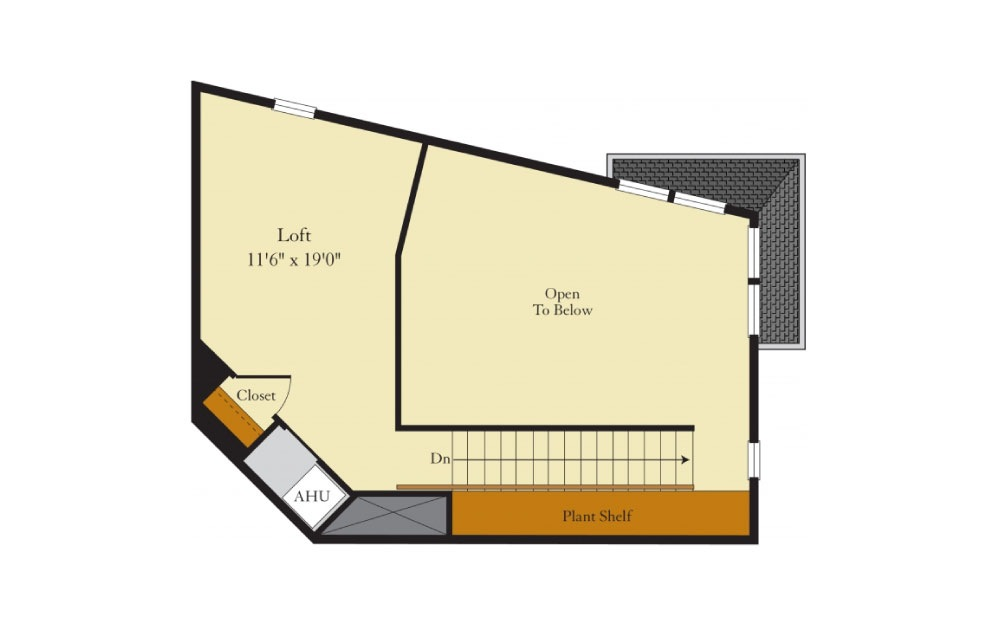 Greenlawn-2GL - 2 bedroom floorplan layout with 2 baths and 1458 square feet. (Floor 2)