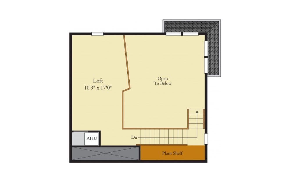 Hamilton - 2 bedroom floorplan layout with 2 baths and 1363 square feet. (Floor 2)